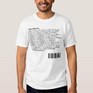 Ingredientes del cuerpo humano: Tabla periódica Camisetas