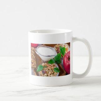 Ingredientes sanos para el desayuno taza de café