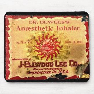 Inhalador anestésico Mousepad Alfombrilla De Ratón