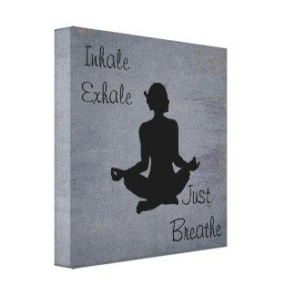Inhale exhalan  -- Impresión inspirada yoga de la