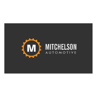 Inicial anaranjada automotriz, reparación, mecánic tarjetas de visita