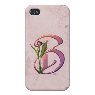 Inicial colorida B de la cala iPhone 4 Cárcasas