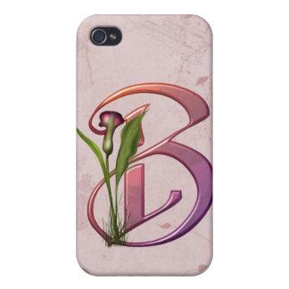 Inicial colorida B de la cala iPhone 4 Cobertura