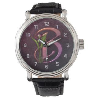 Inicial colorida B de la cala Relojes De Mano