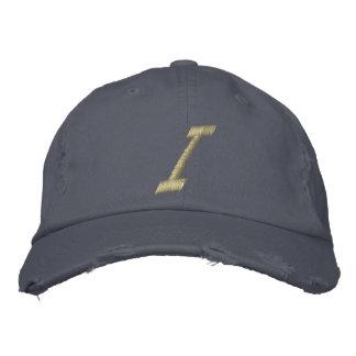 Inicial de la letra I del monograma del bordado Gorras De Béisbol Bordadas
