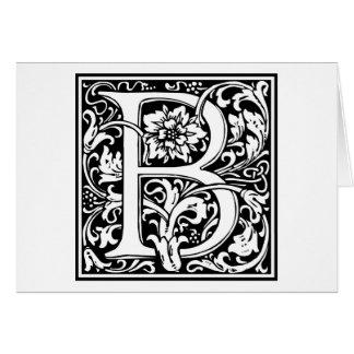 "Inicial decorativa ""B"" de la letra Tarjetón"