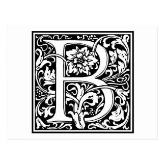 """Inicial decorativa """"B"""" de la letra Postal"""