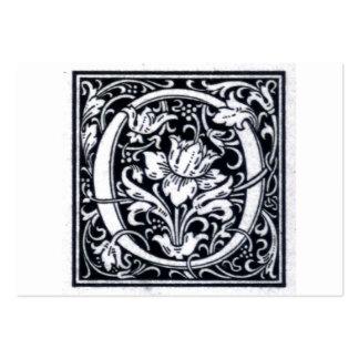 Inicial decorativa de Woodblock del grabar en made Plantillas De Tarjetas Personales