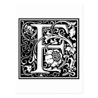 """Inicial decorativa """"F"""" de la letra Postal"""