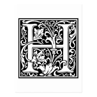 "Inicial decorativa ""H"" de la letra Postales"