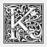 """Inicial decorativa """"K"""" de la letra Calcomanías Cuadradass"""