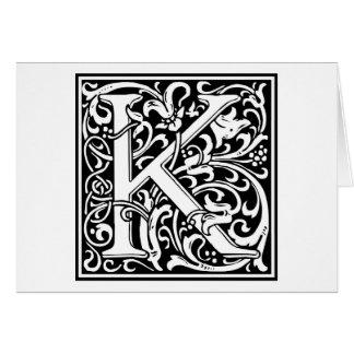 """Inicial decorativa """"K"""" de la letra Tarjeton"""