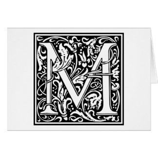 "Inicial decorativa ""M"" de la letra Tarjetón"
