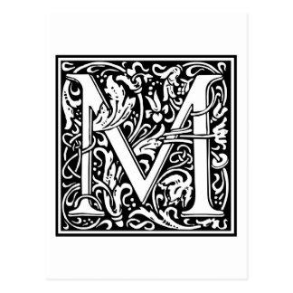"""Inicial decorativa """"M"""" de la letra Postal"""