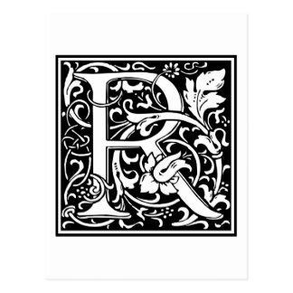 "Inicial decorativa ""R"" de la letra Postales"