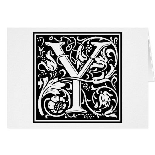"""Inicial decorativa """"Y"""" de la letra Tarjeton"""
