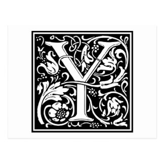 """Inicial decorativa """"Y"""" de la letra Postal"""