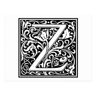 "Inicial decorativa ""Z"" de la letra Postal"