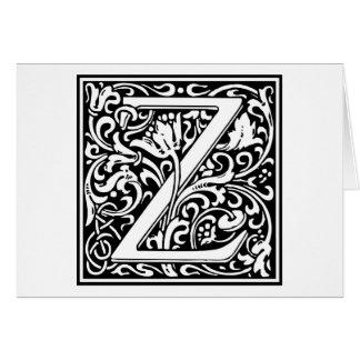 "Inicial decorativa ""Z"" de la letra Tarjeton"