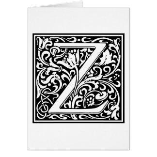 """Inicial decorativa """"Z"""" de la letra Felicitación"""