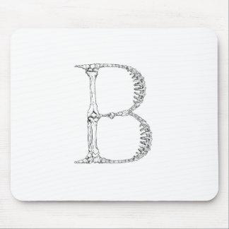 Inicial del hueso de la letra B Alfombrilla De Ratón