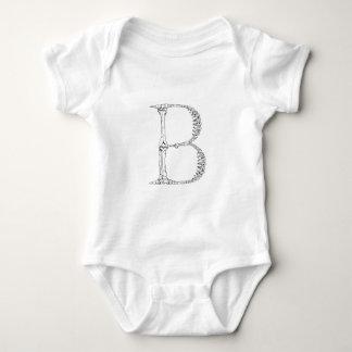 Inicial del hueso de la letra B Body Para Bebé