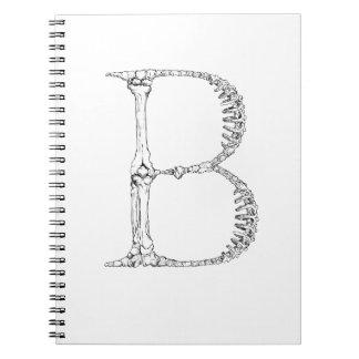 Inicial del hueso de la letra B Cuaderno