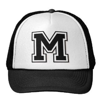 """Inicial del monograma """"M"""" Gorras"""