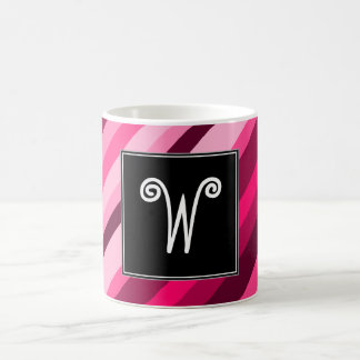 Inicial del personalizado + Taza rosada/magenta