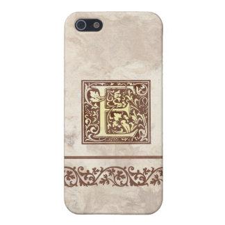 Inicial floral E del vintage iPhone 5 Carcasa