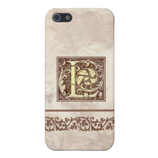 Inicial floral L del vintage iPhone 5 Protectores