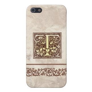 Inicial floral T del vintage iPhone 5 Cobertura