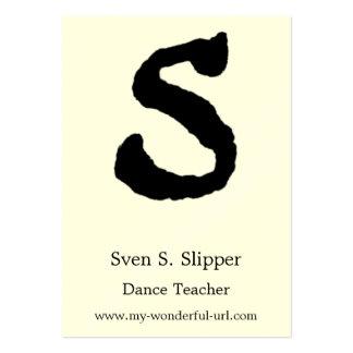 Inicial indicada con letras del estilo de la letra tarjetas de visita grandes
