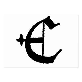 """Inicial inglesa clásica gótica de la letra """"E"""" Tarjetas De Visita Grandes"""