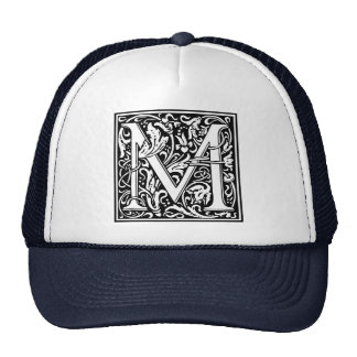 Inicial medieval del vintage del monograma de la gorra