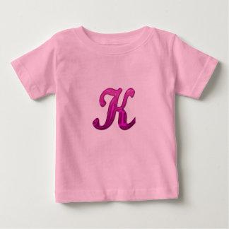 Inicial reluciente rosada - K Camiseta