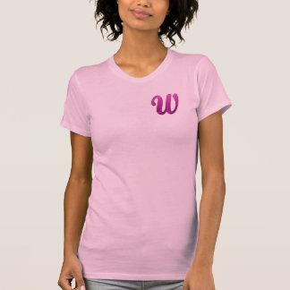Inicial reluciente rosada - W Camisetas