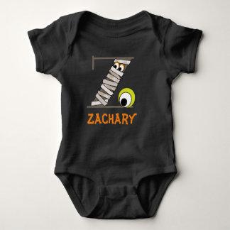 Inicial Z de la momia del mono w del negro del Body Para Bebé