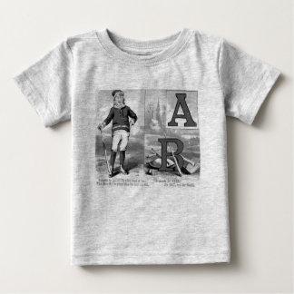 Iniciales A del béisbol y el significar de los Camiseta De Bebé