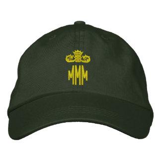 Iniciales cones monograma con la corona gorra bordada