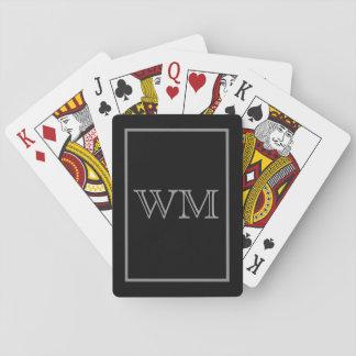 Iniciales grises negras ejecutivas barajas de cartas