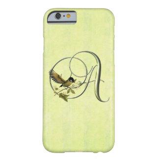 Iniciales S del pájaro cantante Funda Para iPhone 6 Barely There