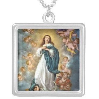 Inmaculada Concepción Collar Plateado