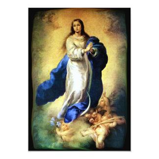 Inmaculada Concepción del Virgen María - Murillo Invitación 12,7 X 17,8 Cm