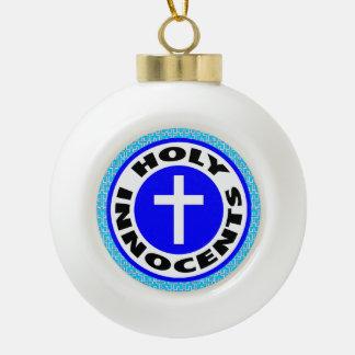 Innocents santos adorno de cerámica tipo bola