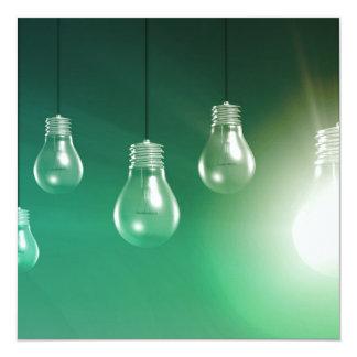 Innovación creativa y concepto que brilla invitación 13,3 cm x 13,3cm