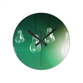 Innovación creativa y concepto que brilla reloj redondo mediano