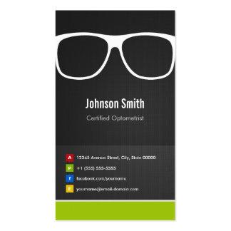 Innovador creativo óptico certificada del optometr plantilla de tarjeta de visita