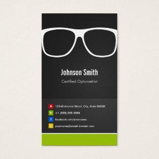 Innovador creativo óptico certificada del tarjeta de visita