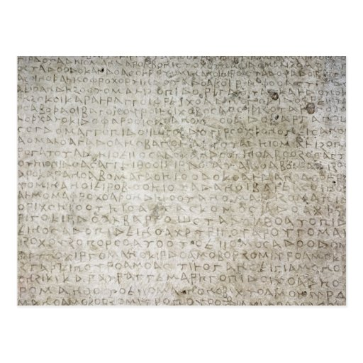 Inscripción en la lengua de Kushana escrita Postal